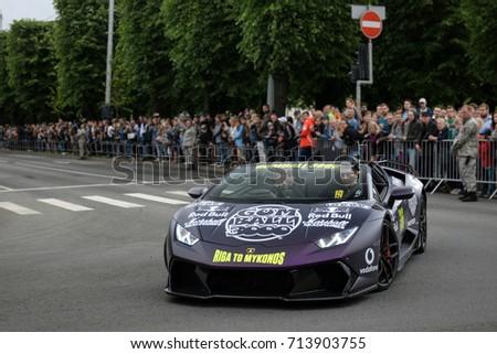 Riga Latvia 010717 Lamborghini Huracan Spyder Stock Photo Edit Now