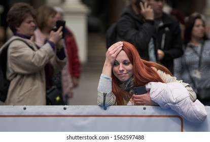 Riga, Latvia - 11.05.2019 - Girl with smile face and red hair