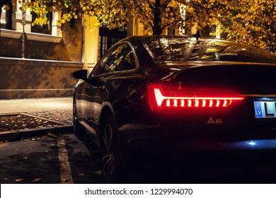Riga, Latvia 14 November 2018, Audi A6 S line C8 Fifth generation