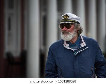 Riga, Latvia - 2019 beautiful Image of a sea Captain