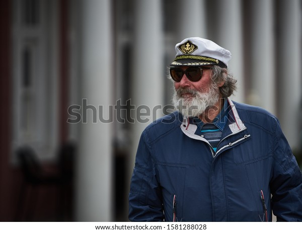 Riga, Latvia - 2019 beautiful Image of a sea Captain