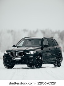 Riga, Latvia, 22-01-2019: New BMW X5 G05, 2019 model photoshoot for editorial use only.