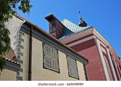 Riga, Latvia - 23 June 2017: Ancient buildings, monuments of architecture in the Old Riga