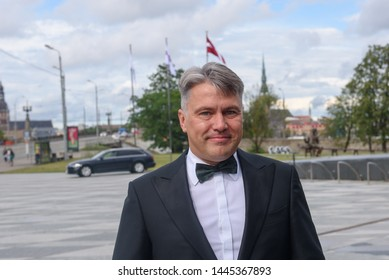 RIGA, LATVIA. 8th of July 2019. Juris Jansons, Ombudsman of Latvia and former candidate for President of Latvia, before Reception in honour of the inauguration of President of Latvia Mr Egils Levits.
