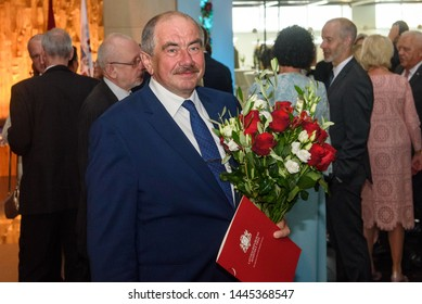 RIGA, LATVIA. 8th of July 2019. Ivars Bickovics, The Chief Justice of the Supreme Court of the Republic of Latvia, during Reception in honour of the inauguration of President of Latvia Mr Egils Levits
