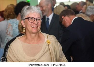 RIGA, LATVIA. 8th of July 2019. Sandra Kalniete, Member of European Parliament, during Reception in honour of the inauguration of President of Latvia Mr Egils Levits