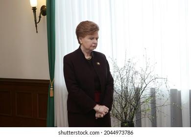 RIGA, LATVIA - dapril 20, 2006: Vaira Vike Freiberga, former president of Latvia