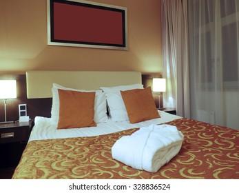 Riga Latvia four star hotel room bedroom