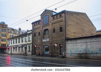 Riga, Latvia - January 1, 2018: Characteristic architecture of Riga