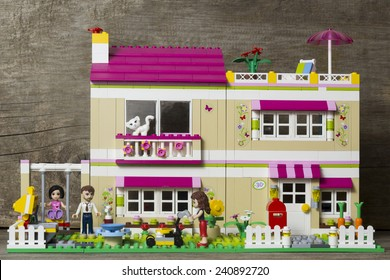 Riga, Latvia - January 1st 2015: Lego Friends Olivia's House. Item 3315. Lego is a popular line of construction toys manufactured by the Lego Group