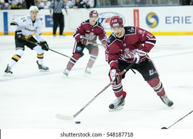 RIGA, LATVIA - JANUARY 3: Lauris Darzins (10) in the KHL regular championship game between Dinamo Riga and Severstal Cherepovets, played on January 3, 2017 in Arena Riga