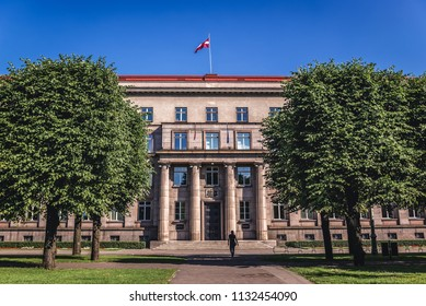 Riga, Latvia - June 25, 2016: Cabinet of Ministers of Latvia and Supreme Court in Riga city