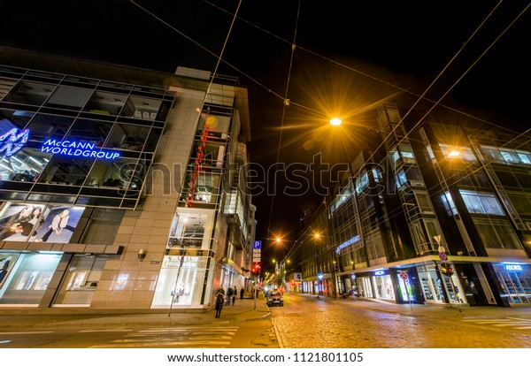"RIGA, LATVIA - MAY 11, 2017:  Office buildings ""Terbata Business centre"""