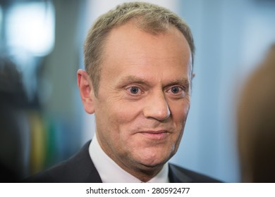 RIGA, LATVIA - May 22, 2015: Eastern Partnership Sammit. President of the European Council Donald Tusk