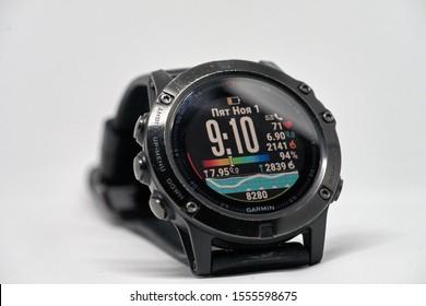 Riga, Latvia - Men digital watch