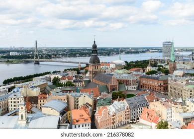 RIGA, LATVIA - SEP 7, 2014: Architecture Riga, Latvia. Riga is the capital and largest city of Latvia