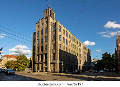 RIGA, LATVIA - SEPTEMBER 30, 2015: Latvia Trade unions building
