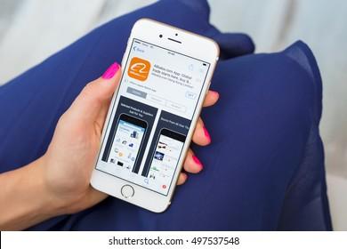 RIGA, LATVIA - SEPTEMBER 8, 2016: Alibaba app on App Store.