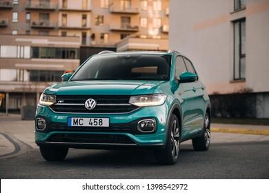 Riga, LV - APR 21, 2019: Volkswagen T-Cross front view