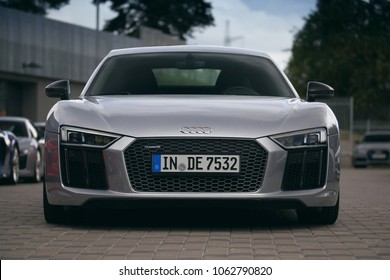 Riga, LV - AUG 15, 2016: Audi R8 on parking