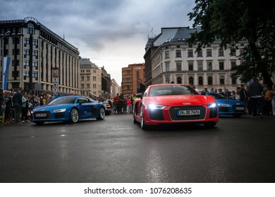 Riga, LV - AUG 15, 2016: Audi R8 supercars
