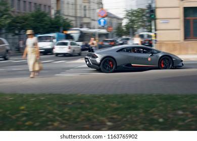 Riga, LV - JUL 28, 2018: Lamborghini Huracan