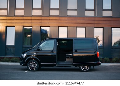 Riga, LV - JUN 15, 2018: New Volkswagen Multivan Executive with open door