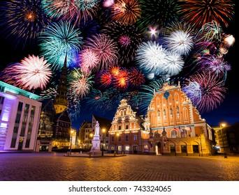 Riga new year, Latvia