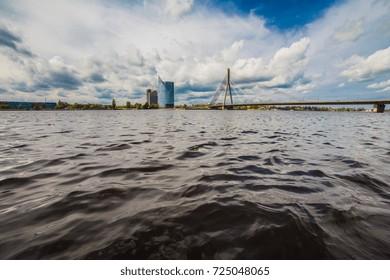 Riga in summer clouds