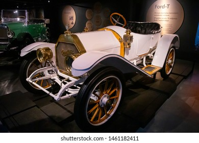 Riga/Latvia July 5, 2019 1911 Overland Model 45. The Overland Automobile Company was a United States-based automobile manufacturer.