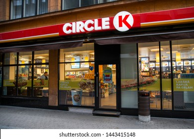Riga/Latvia July 5, 2019  Circle K convenience store. Circle K Stores Inc. is a Canadian multinational chain of convenience stores.