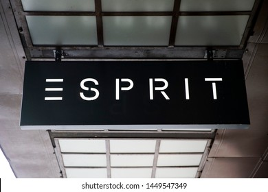 Riga/Latvia July 5, 2019 Esprit Holdings Limited is a publicly owned manufacturer of clothing, footwear, accessories, jewellery and housewares under the Esprit label.