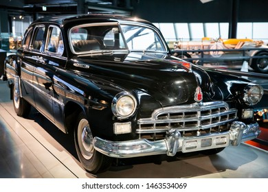 Riga/Latvia July 5, 2019 The ZIM-12  was a Soviet limousine produced by the Gorky Automotive Plant from 1950 till 1960.