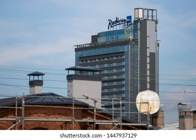 Riga/Latvia July 9, 2019 Radisson Blu Latvia Conference & Spa Hotel is a 4+ star hotel located in the heart of Riga, 1,300 feet from the beautiful Old Town.