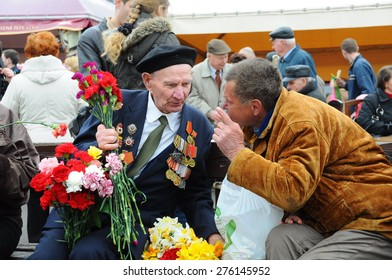 RIGA,LATVIA - MAY 9: Veteran of World war II on the parade May 9, Riga,Latvia. (09.05.2010)
