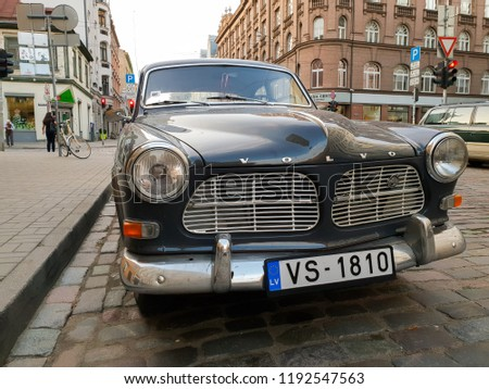 Riga Latvia September 9 2018 Old Volvo Stock Photo Edit Now