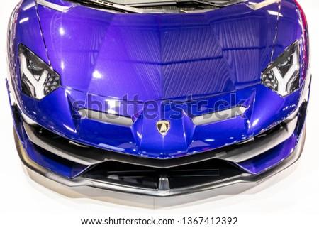 Riga Latvia April 12 2019 Lamborghini Aventador Sv Stock Photo Edit
