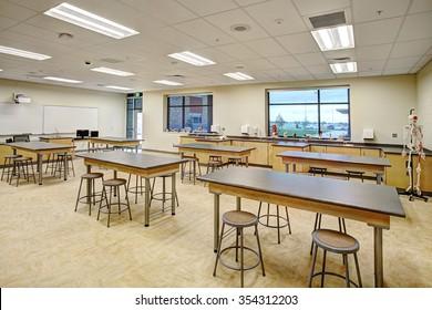 Rigby, Idaho, USA, Nov. 19, 2013  A biology and science classroom in a modern High School