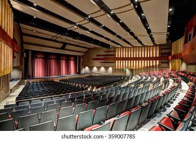 Rigby, Idaho, USA Sep. 13, 2014 A modern theater in a high school