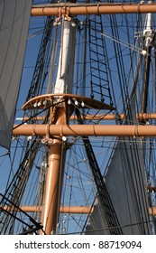 Rigging of an old sailboat.