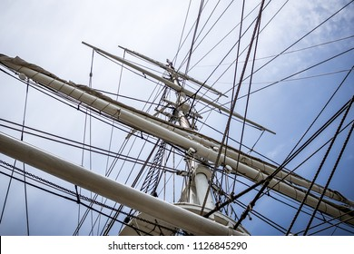 Rigging of an old sailer in Mystic, Connecticut.