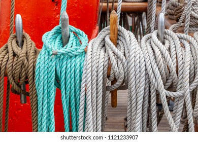 Rigging on an old sailboat