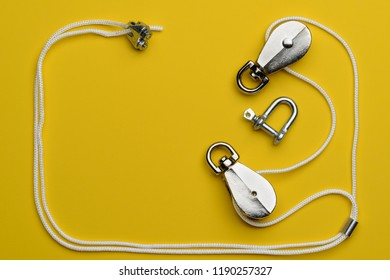 rigging yellow background