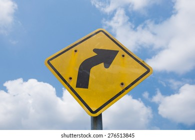 Right Curve Ahead Traffic Sign