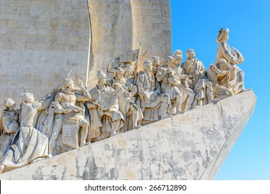 Right side of the Monument to the Discoveries in Lisbon, Portugal