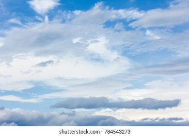 right sky with white clouds