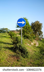 right way road sign in nature