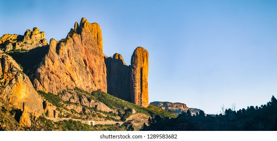 Riglos mountains in spain - national park