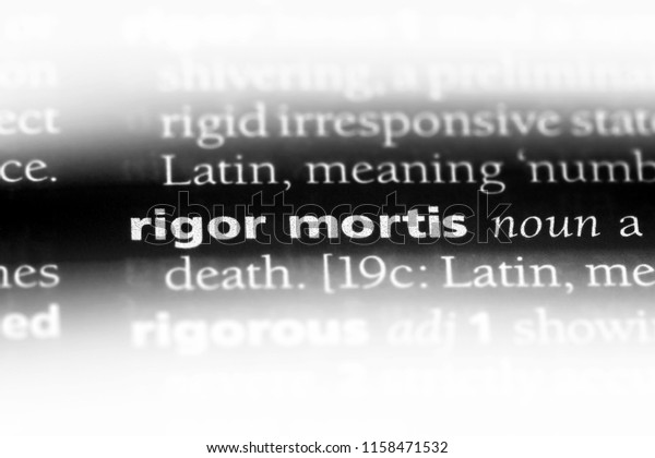 Rigor Mortis Word Dictionary Rigor Mortis Stock Photo (Edit