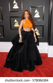 Rihanna at the 59th GRAMMY Awards held at the Staples Center in Los Angeles, USA on February 12, 2017.